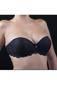 Gala bustier noir simple ou double push-up