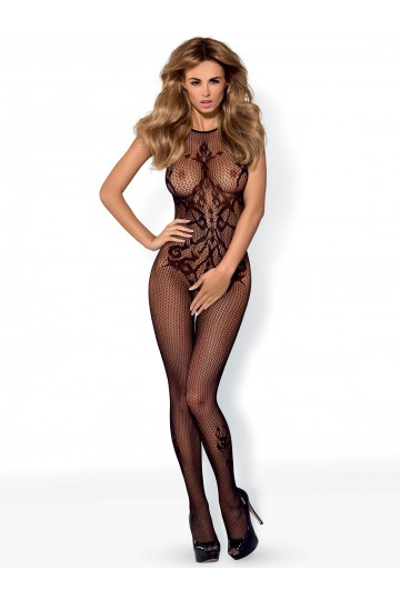 Bodystocking opaque à motifs
