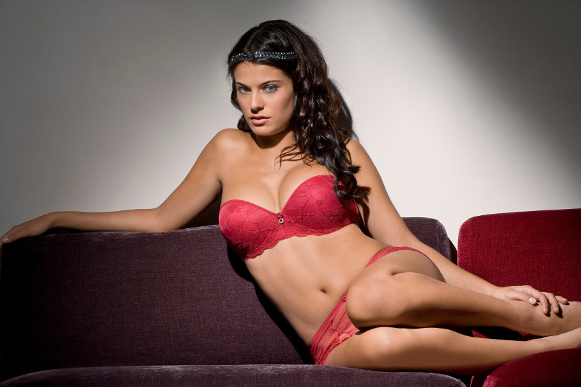 Gala rouge bustier push up